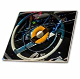 3dRose Alexis Photography - Transport Road - Steering wheel of a vintage luxury car - 12 Inch Ceramic Tile (ct_271910_4)