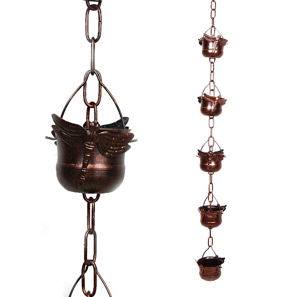 NE Shopping Beautiful Decorative Dragonfly Rain Chain