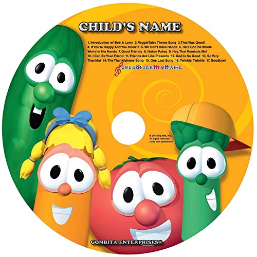 Gombita Enterprises Children Name Personalized - CD & MP3 Digital - Sing Along with Veggie Tales