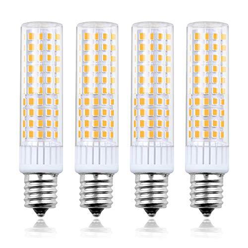 Bonlux 8.5W Dimmable LED E17 Microwave Oven Bulb - Intermediate Base LED Appliance Light, Daylight 6000K 100W Halogen Equivalent Under-Microwave Stove Light (4-Pack) 100 Watt E17 Medium Base