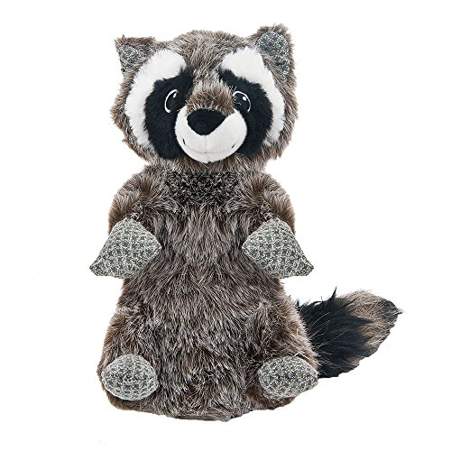- Best Pet Supplies PT512 Raccoon Plush Squeaky Woodland Critters Stuffed Dog Toy