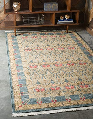 Unique Loom Edinburgh Collection Oriental Traditional French Country Navy Blue Area Rug 8 0 x 10 0