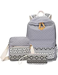 Abshoo Canvas Dot Backpack Cute Lightweight Teen Girls Backpacks School Shoulder Bags
