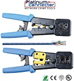 cat6 platinum tools - RJ45 Professional Heavy Duty Crimp Tool by Platinum Connector for pass through and legacy connectors