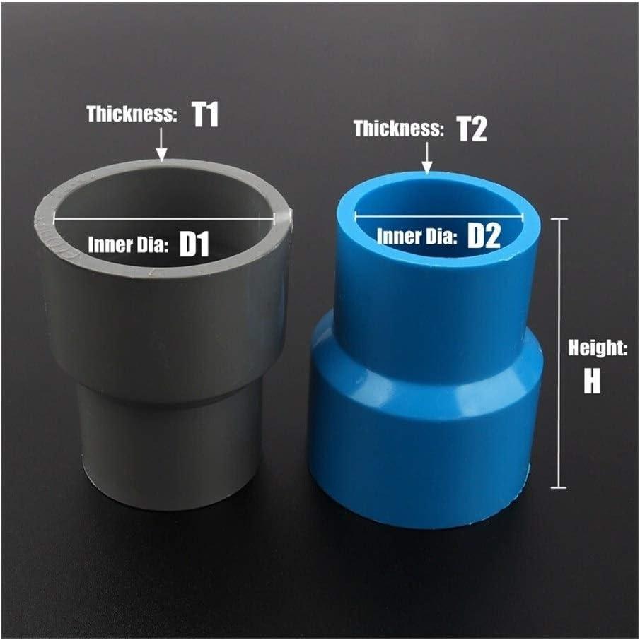15pcs 40 50mm To 20~40mm PVC Reducing Straight Joints Garden Irrigation Water Pipe Connectors Aquarium Tank DIY Tools Color : 50 40mm, Diameter : Gray