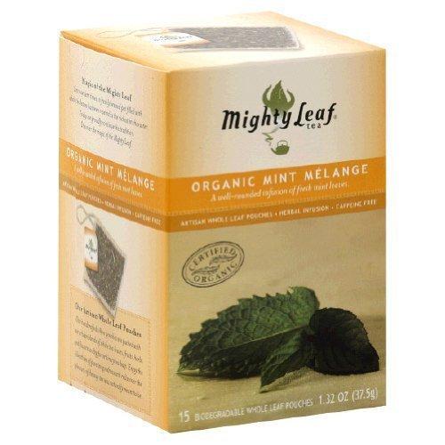 MIGHTY LEAF TEA MINT MELANGE, 15 BG by Mighty Leaf Tea (Leaf Tea Mint Mighty)