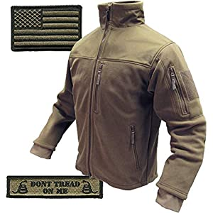 Condor Tac-Jacket & USA Flag & Dont Tread Patch – 3 Item-Bundle