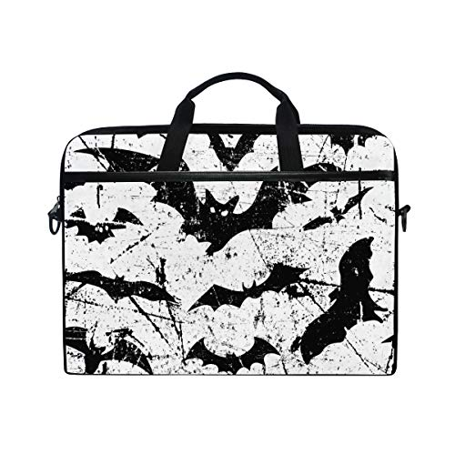 TARTINY 15-15.4 Inch Laptop Bag Bats Seamless Pattern Background Halloween Vector Shoulder Messenger Bags Sleeve Case Tablet Briefcase with Handle Strap]()