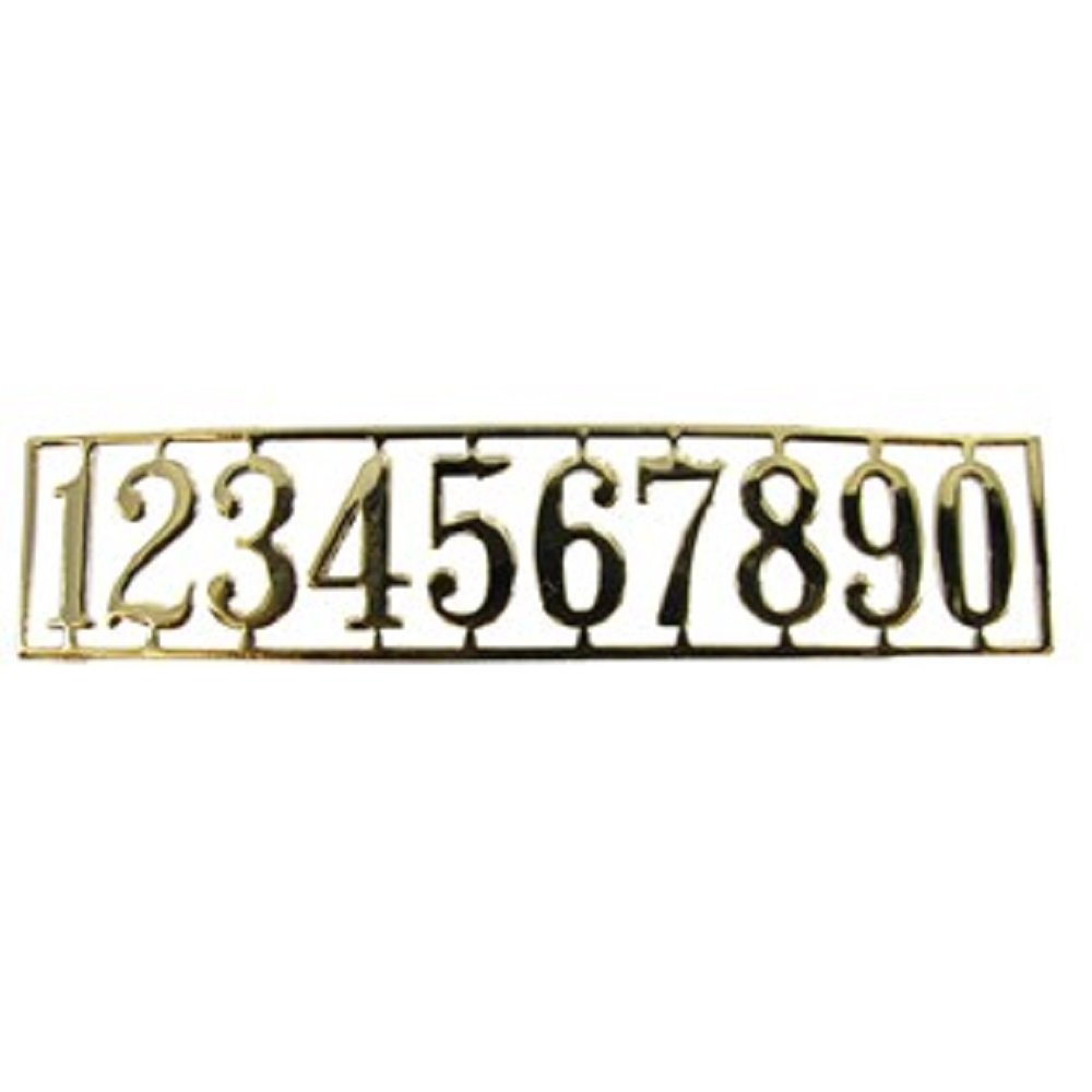 Dollhouse Miniature Brass House Numbers