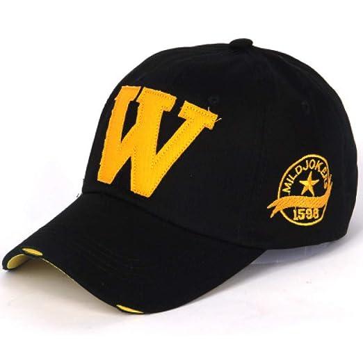 Gorra de béisbol Bordado de algodón Letra W Gorra de béisbol ...
