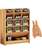 Marbrasse Wooden Desk Organizer, Multi-Functional DIY Pen Holder Box, Desktop Stationary, Easy Assembly, Home Office Supply Storage Rack with Drawer