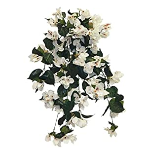"34"" Cream Bougainvillea Hanging Bush Silk Wedding Flowers Home Party Decor 8"