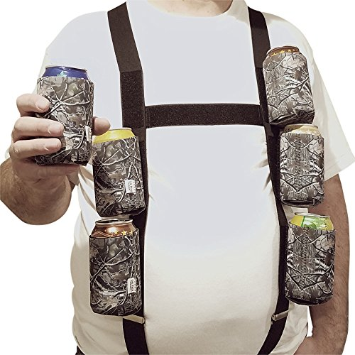 Woody Camo (Six Pack Suspenders with 6 Detachable