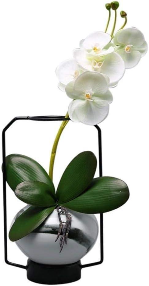 KaiKai Habitación China cerámica de Hierro florero decoración de la Tabla Verde Planta de Tiesto Living Home Comedor Disposición de la Tabla Creativa de Flores secas de Flores decoración