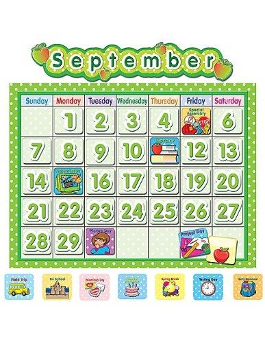 Teacher Created Resources School Calendar Bulletin Board, Polka Dot (4188)