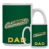 Vermont Dad Full Color White Mug 15oz 'Slanted Vermont Catamounts'