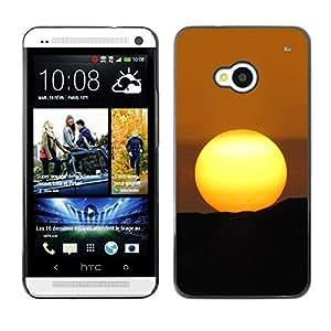 Paccase / SLIM PC / Aliminium Casa Carcasa Funda Case Cover - Desert Sunset - HTC One M7