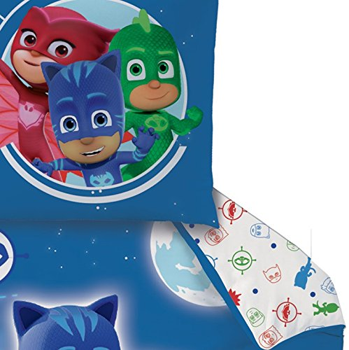 Pj Masks Kinder Bettwäsche Hero Catboy Owlette Gekko In Blau