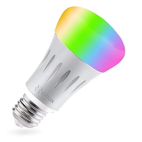 Smart LED bombilla, Wi-Fi luz bombilla, luz LED multicolor bombillas, A19