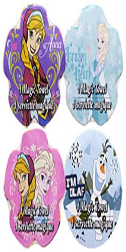 Disney Frozen Expanding Magic Towels - 4 Assorted Designs in Each Package
