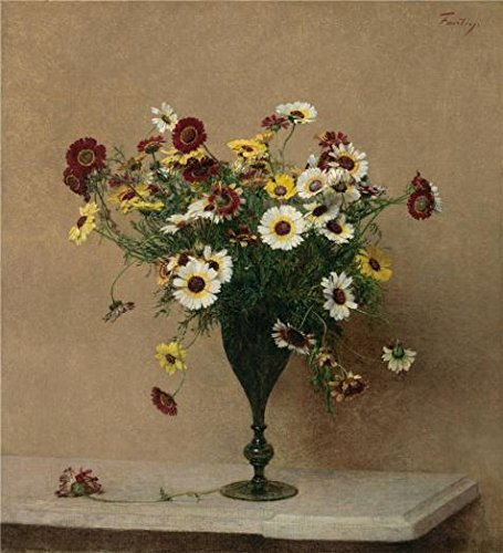 Second Nature Transition Spout (The high quality polyster Canvas of oil painting 'Henri Fantin Latour,Chrysanthemums,about 1889' ,size: 24x26 inch / 61x67 cm ,this Amazing Art Decorative Prints on Canvas is fit for Bathroom decoration and Home decor and Gifts )