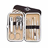 BOCTOP 10 in 1 Stainless Steel Nail Clippers set & Nail Care Personal Manicure Pedicure Set For Manicure, Pedicure, Home and Travel
