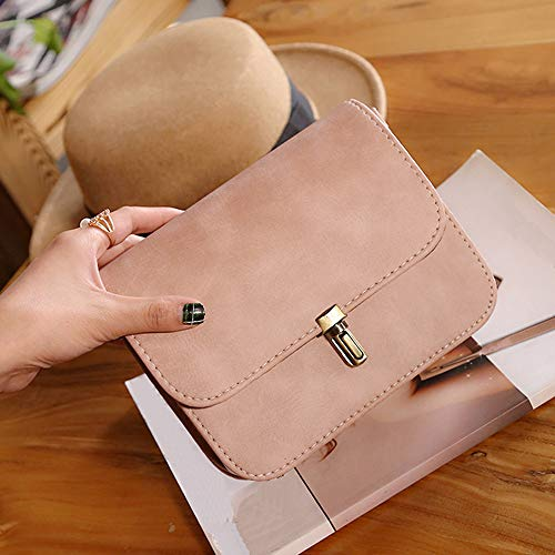 Pink Women BaZhaHei Messenger Shoulder Tote Lock Handbags Bullet Crossbody Sexy Leather Bag Women Solid Handbag Satchel Bag Bag Bags Lady Women Bag w1CwqSU
