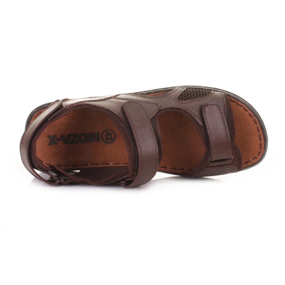 Hombre Cuero Auténtico Exterior Sandalias De Verano: Amazon.es: Zapatos y complementos