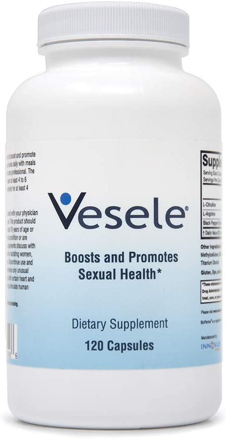 Vesele® - Nitric Oxide Supplements and Promotes Healthy Blood Flow, Dietary Nitric Oxide Supplement with 1500 mg Proprietary Blend of L-Citrulline, L-Arginine, BioPerine - 120 Veggie Capsules: Health & Personal Care