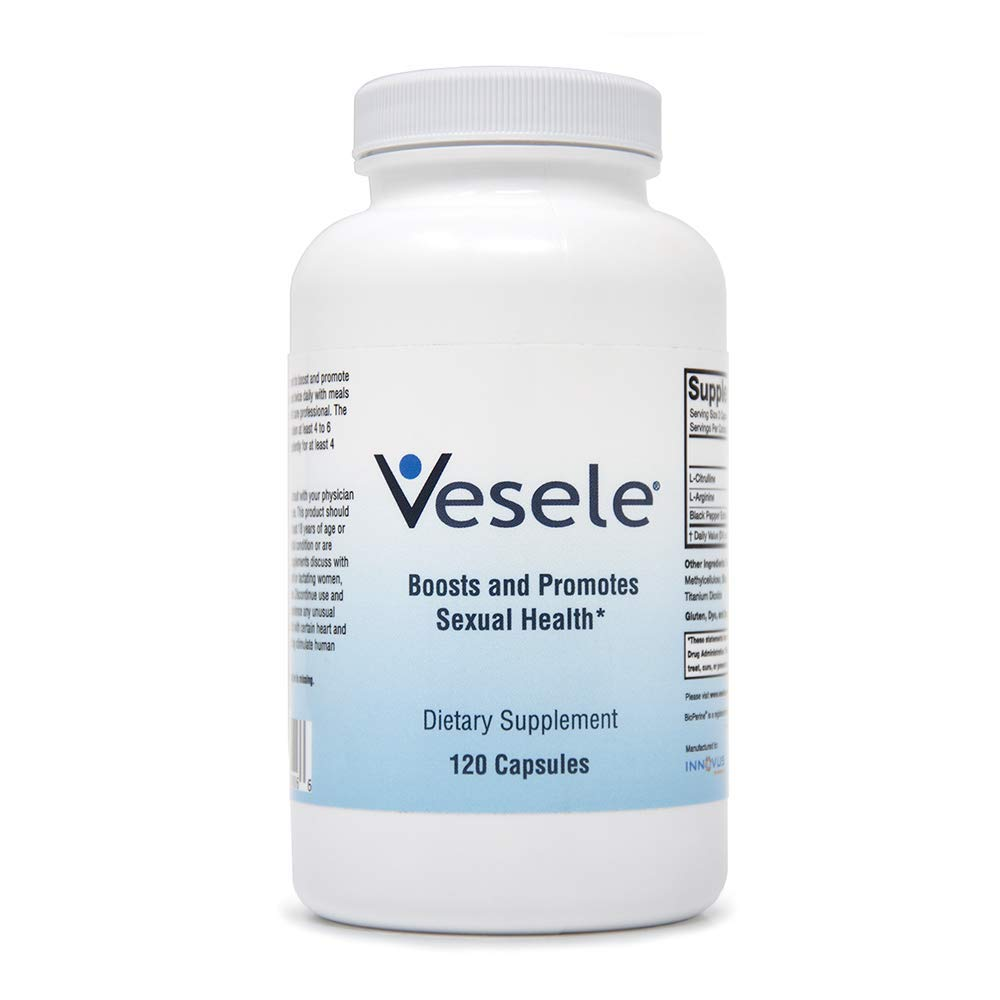 Vesele® - Nitric Oxide Supplements and Promotes Healthy Blood Flow, Dietary Nitric Oxide Supplement with 1500 mg Proprietary Blend of L-Citrulline, L-Arginine, BioPerine - 120 Veggie Capsules by Vesele