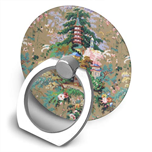 FISHISOK Chinoiserie Palace Cell Phone Ring Holder,Finger Grip Stand Holder,360 Degrees Rotation,Circular Panel Compatible with iPhone,Samsung,Phone Case,etc