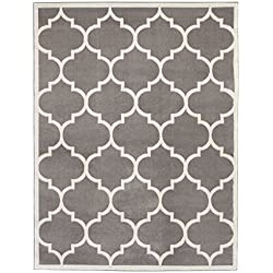 Sweet Home Stores Clifton Collection Light Grey Moroccan Trellis Design (8 x 10) Area Rug.