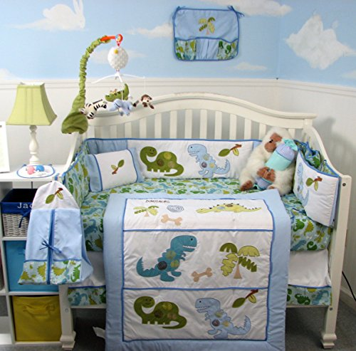 Dinosaur Baby Crib Nursery Bedding Set 14 pcs