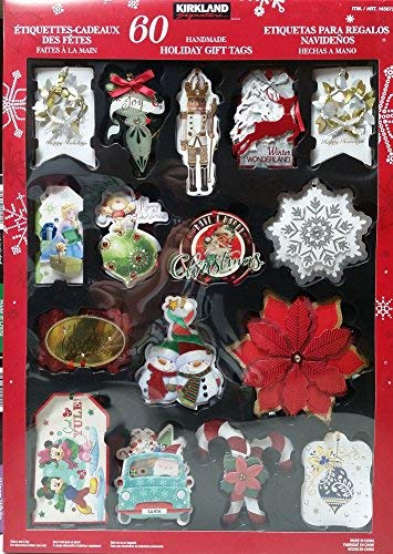 Disney Gift Tags - Kirkland Signature Handmade Holiday Gift Tags, 60 Count