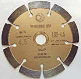 Whirlwind USA LSS 4 1/2-Inch Dry or Wet Cutting General Purpose Power Saw Segmented Diamond Blades for Concrete Stone Brick Masonry (Factory Direct Sale) (4.5