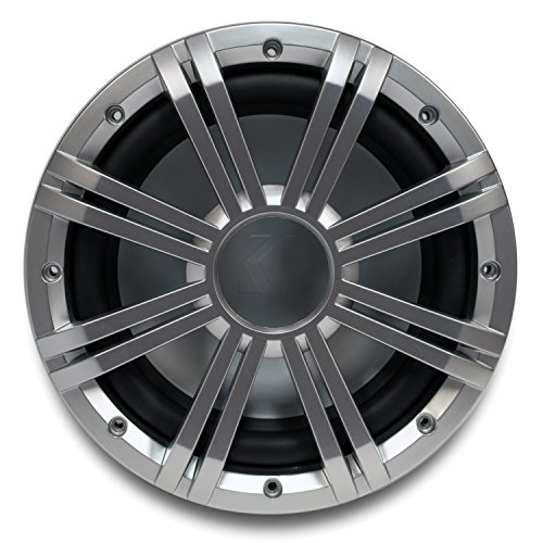 "Kicker 10"" 4-ohm Marine Subwoofer with Included Silver Grille."