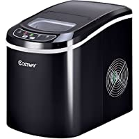 Mini Portable Compact Electric Ice Maker Machine - Black
