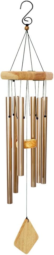 """BLESSEDLAND Premium Wind Chimes-6 Hollow Aluminum Tubes, 31"""" Wind Chime for Garden,Yard,Patio and Home Decoration. (Nature)"""