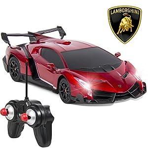 Marketworldcup-1/24 Officially Licensed RC Lamborghini Veneno Sport Racing Car W/ 27MHz Control