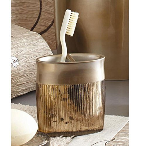 Croscill Magnolia Toothbrush Holder Bronze