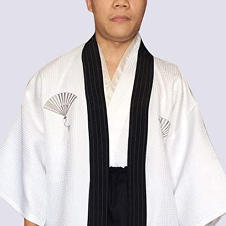 Amazon.com: Men Traditional Stripe Samurai Clothes Japanese ...