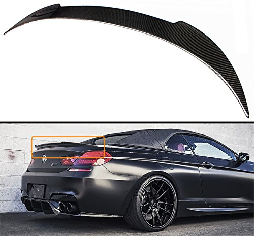 Cuztom Tuning Fits for 2012-2017 BMW F12 F13 640i 650i M6 Coupe & Convertible V Style Carbon Fiber Trunk Spoiler Wing Lid ()