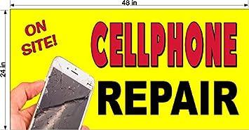 New Perforated Window Vinyl Decal 2 X 3 Cell Phone Repair Unlocking Ebay