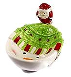 Christmas Holiday Snowman and Santa Cheese Dip Bowl and Spreader Set (Snowman with Santa)