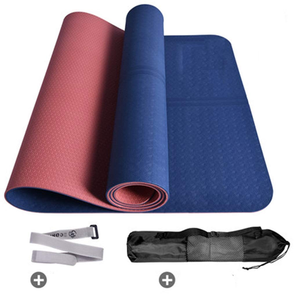 Estera de yoga combinada de TPE, Estera de Fitness, Correa + ...