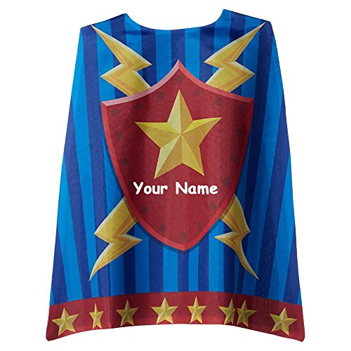 Stephen Joseph Personalized Superhero Armor with Stars Dress-up Cape with Name