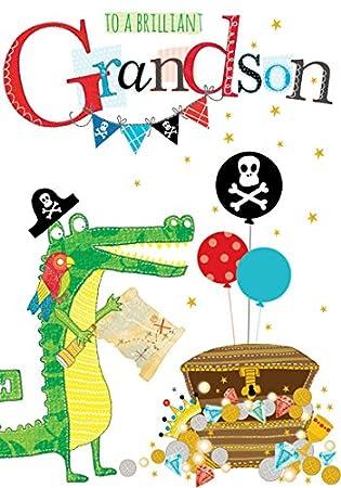 Ábaco tarjetas pirata Tarjeta de cumpleaños para Nieto ...