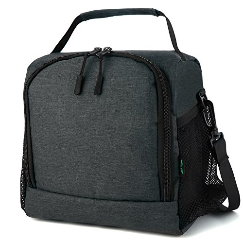 Lunch Box Drink (Insulated Lunch Box F40C4TMP Tote Cooler Bag For Men Women Kids Bento Box Bag 9 Cans (Grey N10))