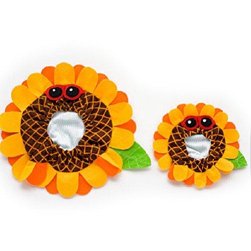 Sunflower Cat Costume (UEETEK Pet Dog Cat Costume Sunflower Mane Wig Hair Accessories (Yellow))