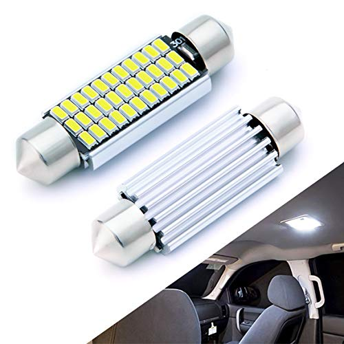 AUTOGINE 4pcs CAN-Bus Error Free 211-2 212-2 569 578 LED Bulbs Festoon 41MM / 42MM 1.72 Xenon White 3014 33-EX Chipsets for Car Interior Dome Map Door Courtesy License Plate Lights